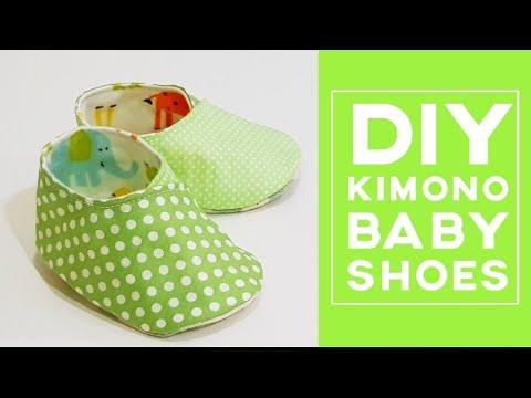Diy Kimono Baby Shoes | Free Template Download | 和服式婴儿鞋制作分享#HandyMum  ❤❤