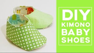Diy Kimono Baby Shoes | Free template download | 和服式婴儿鞋制作分享#HandyMum  ❤❤