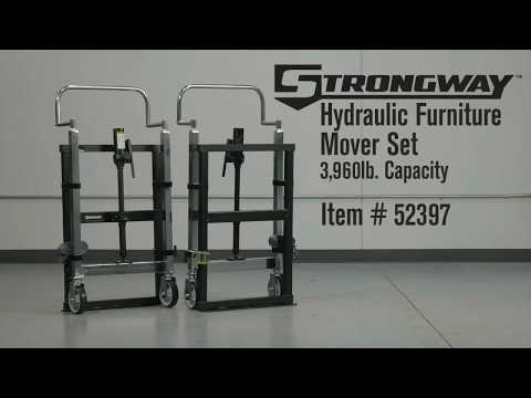Strongway Hydraulic Furniture Mover Set  3960-Lb. Capacity 10in. Lift