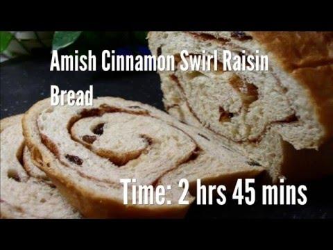 Amish Cinnamon Swirl Raisin Bread Recipe