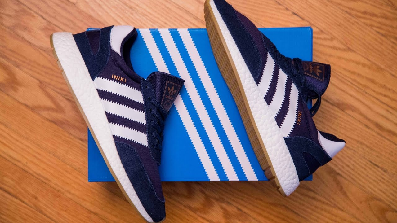 exquisite style amazing price latest Adidas Iniki Runner Navy / Blue Review and On Feet