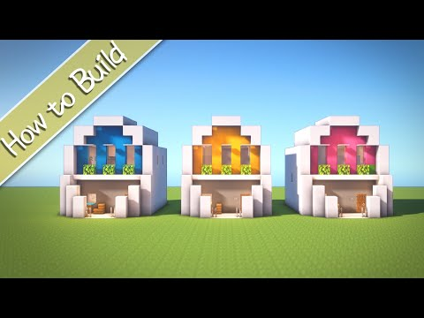 [OSHACRA] part57 How to build modern house like an egg!/おしゃクラ! part57 たまご型モダンハウス(Minecraft)