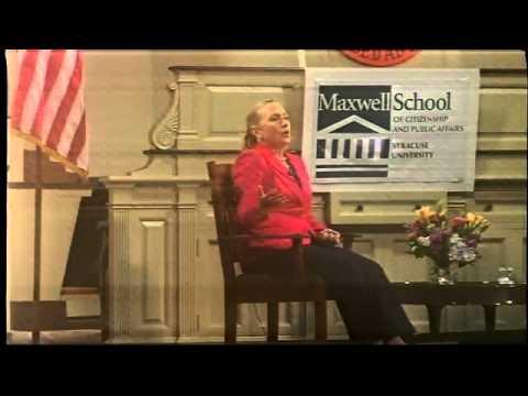 Secretary of State Hillary Clinton speaks at Syracuse University