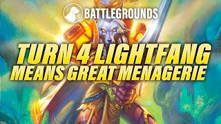 Turn 4 Lightfang Means Great Menagerie | Dogdog Hearthstone Battlegrounds
