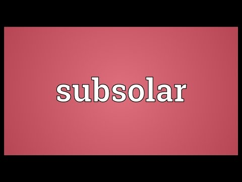 Header of subsolar