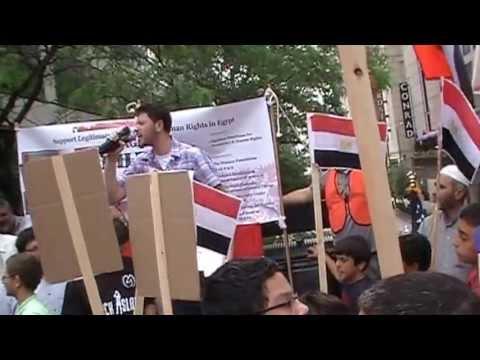 Demonstration pro president Morsy - Chicago USA - 2013 July 7 - (1)