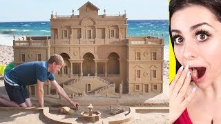 Most Impressive SAND CASTLES and Sculptures Ever Built !