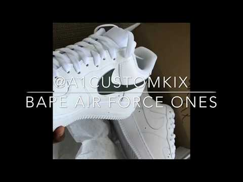 How to: @A1CustomKix – Custom Bape Air Force ones (custom shoes)