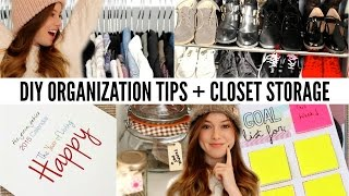 Diy: Organization Tips + Closet Storage Inspiration!