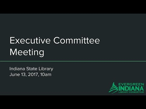 Executive Committee Meeting - 2017-06-13