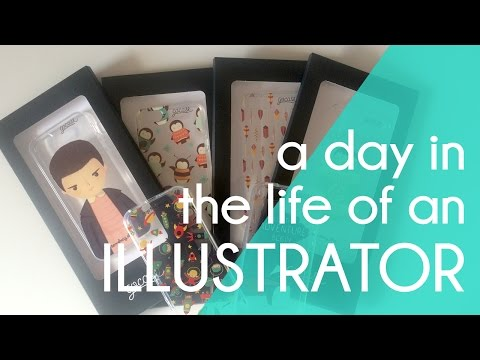 Day in the life of a freelance illustrator