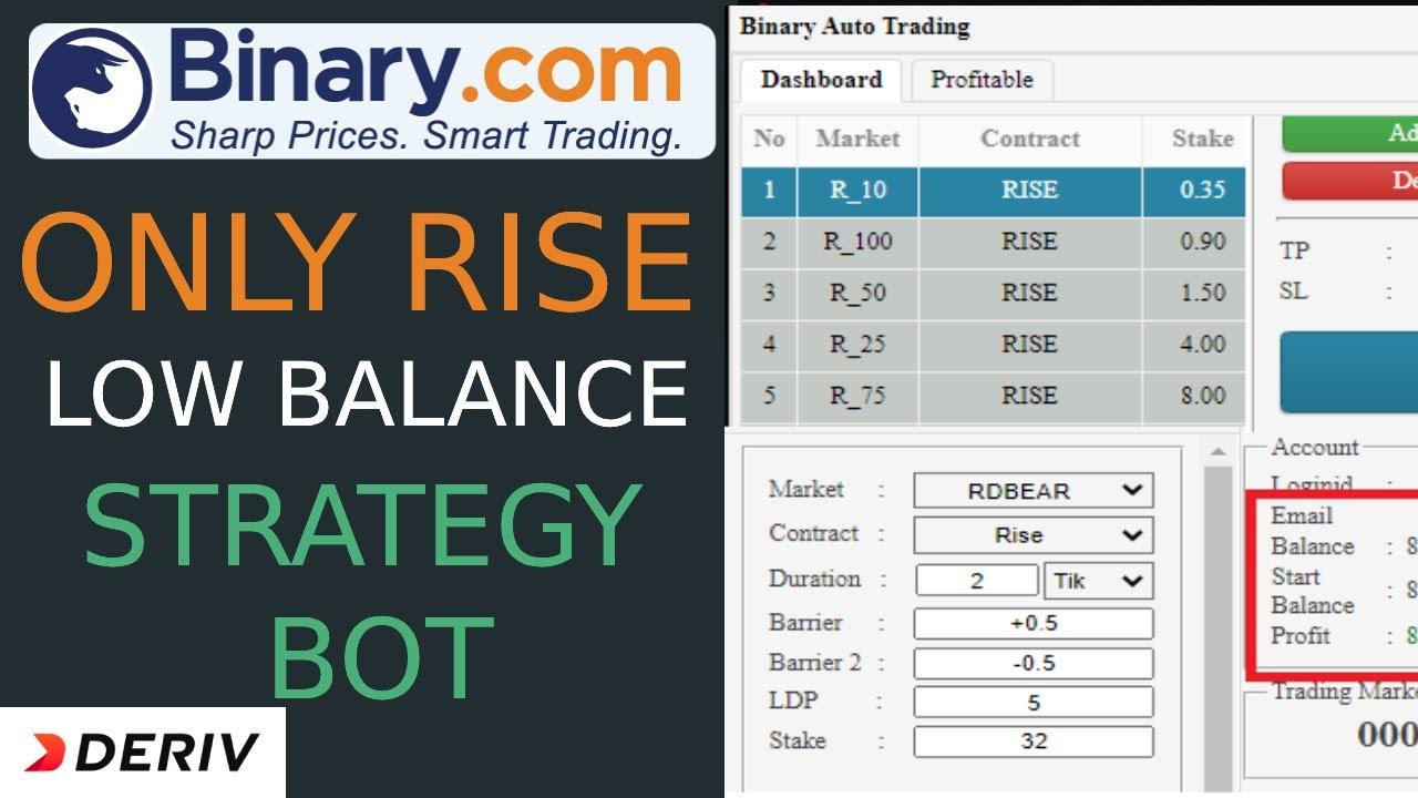 Binary.com Bot Free | Low Balance Strategy Bot | deriv.com