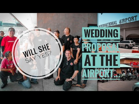 My biker wedding proposal at Mactan-Cebu International Airport