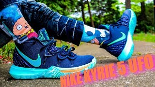 NIKE KYRIE 5 UFO REVIEW & DOPE ON FEET!!