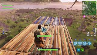 Trying to do a backflip landing with a shopping cart on * Fortnite !!!!