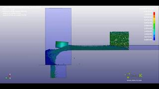 LS-Dyna - Conveyor chute impact simulation