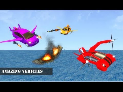 Futuristic Flying Air Bus Race Android...