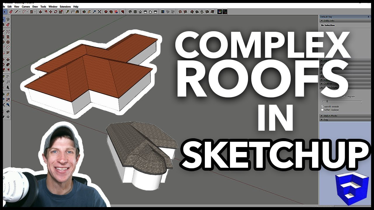 COMPLEX ROOFS IN SKETCHUP with Roof by TIG - SketchUp Extension of