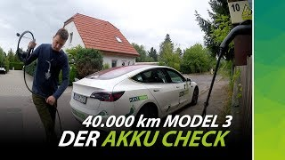 Tesla Model 3 im Test: Akkukapazität nach 40.000 km