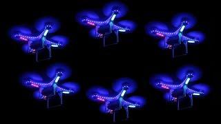 Световое Шоу квадрокоптеров - дронов в темноте на выставке роботов на ВДНХ