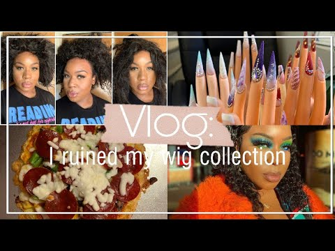 vlog:-ruining-my-wig-collection,-keto-cooking,-opening-pr,-at-home-mani-and-more