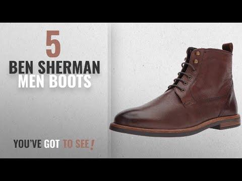 Top 10 Ben Sherman Men Boots [ Winter 2018 ]: Ben Sherman Men's Birk Plain Toe Oxford Boot, Dark