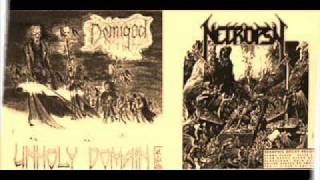 NECROPSY - Blasphemous Degradation (1991) DEMIGOD / NECROPSY SPLIT Finland