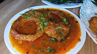 EATING GOLDEN WHOLE CURFEW FISH CURRY, SPICY ROHU  FISH CURRY, GREEN-CHILI EATING || INDIAN MUKBANK