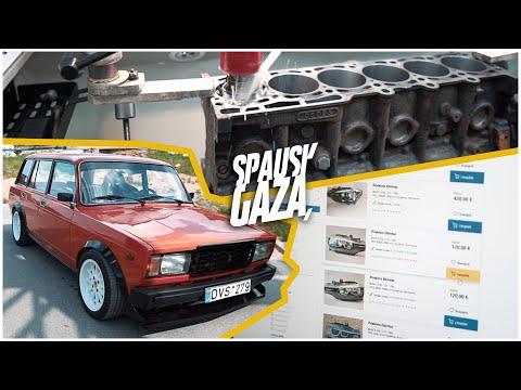 """""""Spausk Gazą"""": Antram Gyvenimui Prikeltas """"Žiguliukas"""" Ir BMW Ruošimas Lenktynėms"""