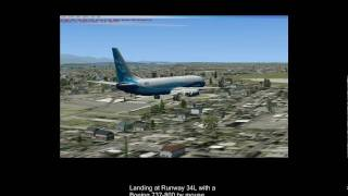 First Landing in FSX (Mouse Yoke)