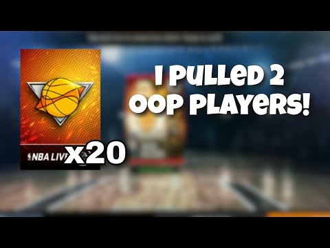 I PULLED 2 OOP PLAYERS FROM A BOB IN NBA LIVE MOBILE
