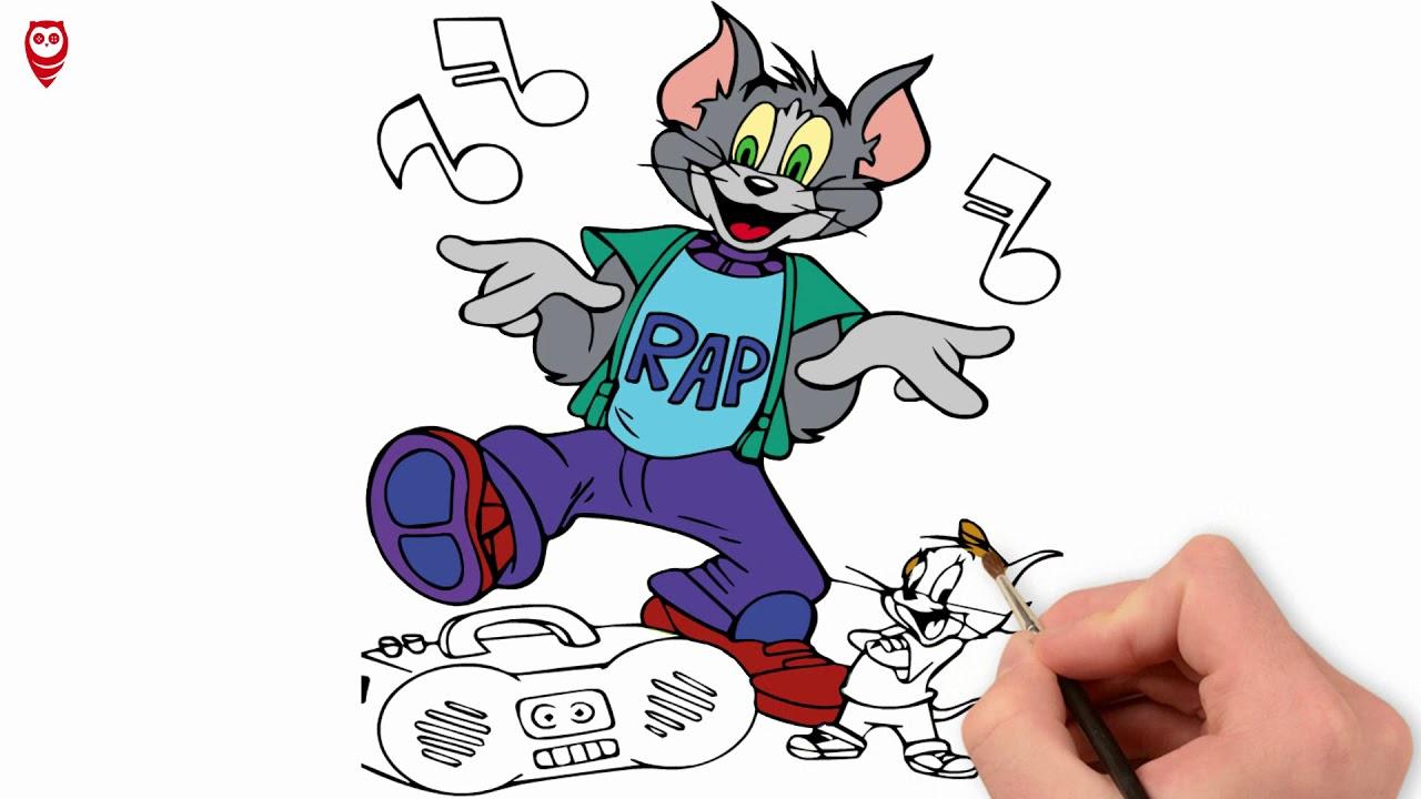 Tom Ve Jerry Cizim Ve Boyama Sayfasi Nasil Yapilir Youtube