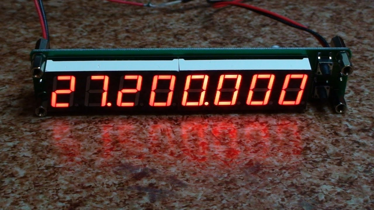 Frequency Counter Plj 8 Led Amp Frq 8 F