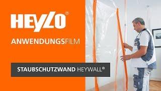Staubschutzwand HEYWALL® [Heylo]: Wie baue ich eine (mobile) Staubschutzwand auf?