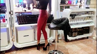 """Makeup done in red bottoms"" Trailer video on high heels www.SeeMeWalking.com"