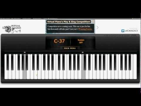 Virtual Piano My heart will go on (Titanic)