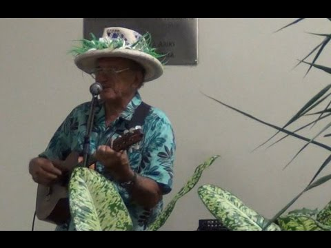 Jake Numanga sings goodbye on Rarotonga International Airport