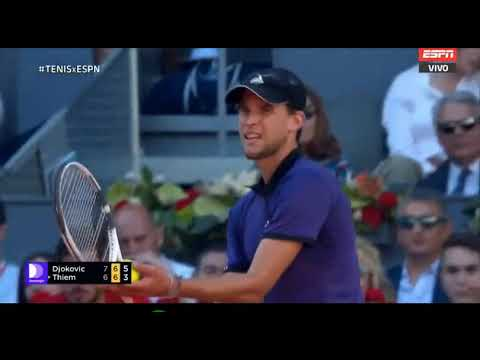 Novak Djokovic vs Dominic Thiem - Madrid open 2019 Tie Break Set 2