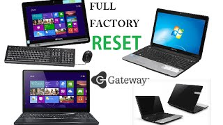 Gateway Laptop Factory Restore Reinstall Windows Reset NV NE DX FX LT KAV SA1 MX NX ZX NV79 M Series