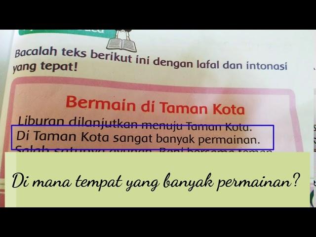 Kelas 2 II Tema 2 II Subtema 4 II Bahasa Indonesia