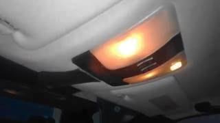 Как снять передний плафон и зеркало заднего вида  Mercedes