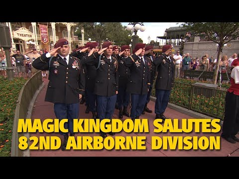 82nd Airborne Division Salute at Magic Kingdom | Walt Disney World
