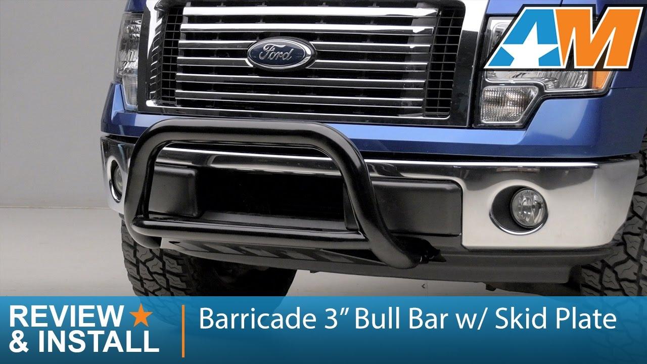 "Ford F150 Bull Bar >> 2011-2017 F-150 Barricade 3"" Bull Bar w/ Skid Plate (2.7L/3.5L EcoBoost) Review & Install - YouTube"