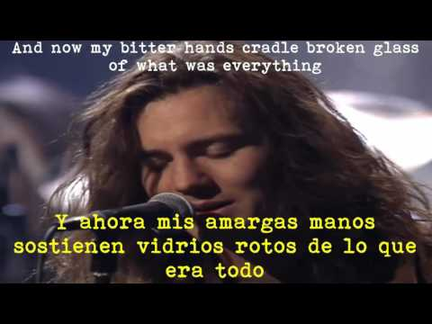 Pearl Jam - Black Lyrics (Unplugged)[Subtitulada Español-Ingles]