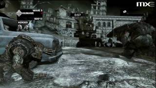Gears of War 3 - Beast Mode Waves 1-10 Gameplay HD