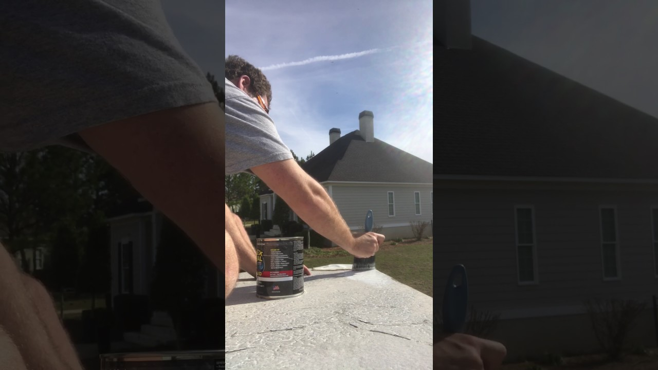 Sealing Camper Roof With Flex Seal Youtube