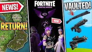 Combat Shotgun VAULTED, Darkfire Bundle LEAKED, Moisty & Greasy Confirmed, Splatoon! (Fortnite News)