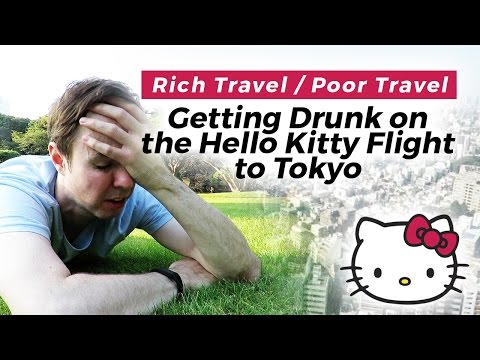 Getting Drunk on the Hello Kitty Flight to Tokyo