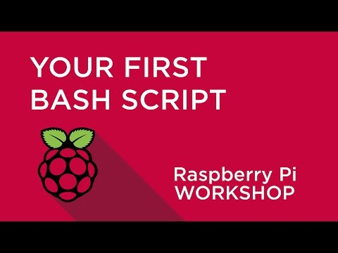 Raspberry Pi Workshop - Chapter 3 - Your First Shell Script