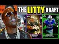 THE LITTY DRAFT! TAKING THE MOST LIT PLAYER IN EVERY ROUND! Madden 18 Draft Champions